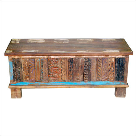 Carved Reclaimed Wooden Box