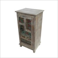 Carved Wooden 1 Door Sideboard