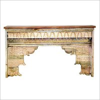 Carved Wooden Console