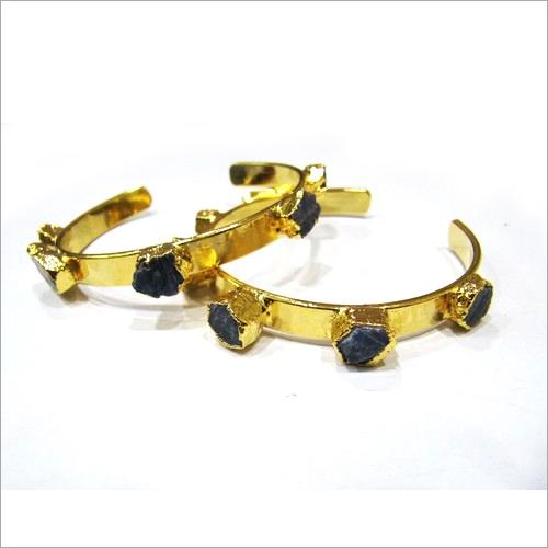 Custom Birth Stone And Healing Sapphire Gemstone Bracelet Bangle