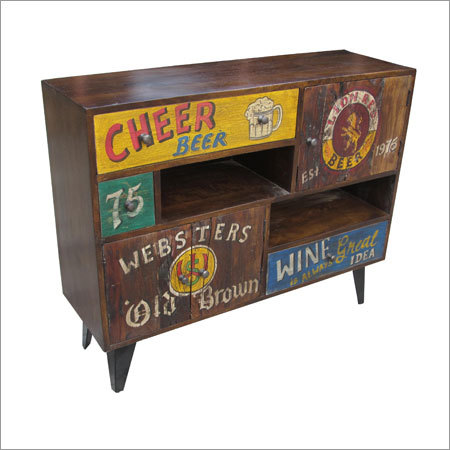 Hand painted Wooden 3 Drawer 3 Door Sideboard