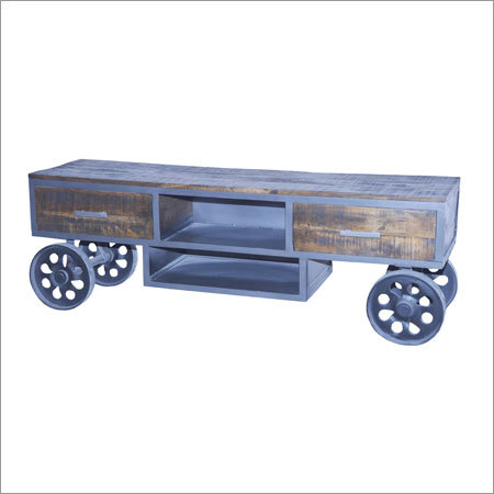 Wooden Iron Plazma Trolley