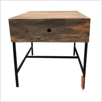 Wooden 1 Drawer Side Table