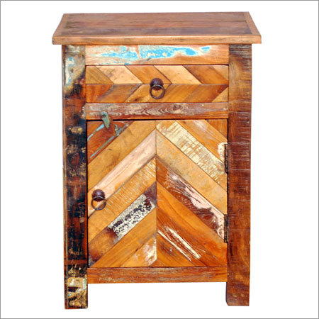 Wooden 1 Drawer 1 Door Bedside