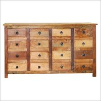 Wooden 16 Drawer Chest
