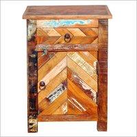 Wooden 1 Drawer 1 Door Bedside