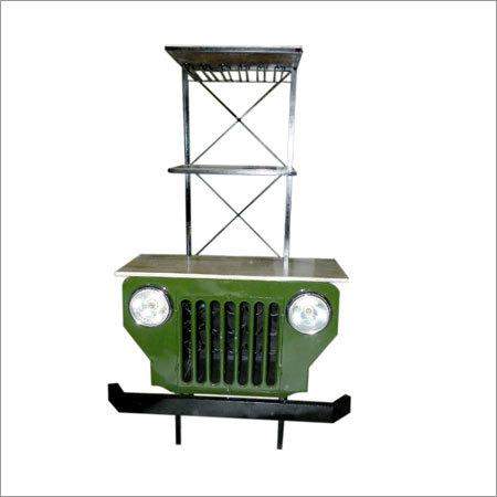 Wooden Iron Jeep Bar