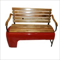 Wooden Iron Bench