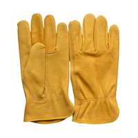 Leather Hand Knitting Safety Gloves