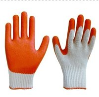 Rubber Hand Knitting Safety Gloves