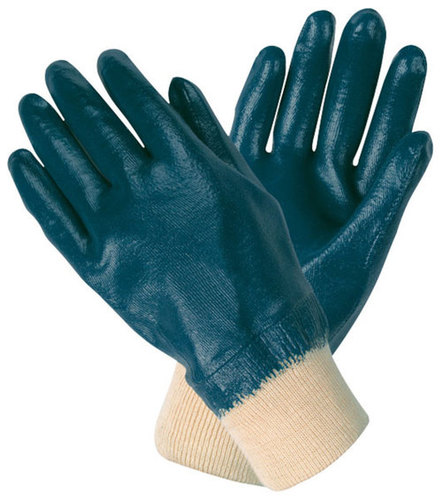 Nitrile Hand Knitting Safety Gloves