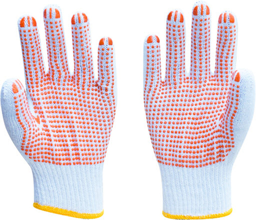 Knitted Dotted Gloves