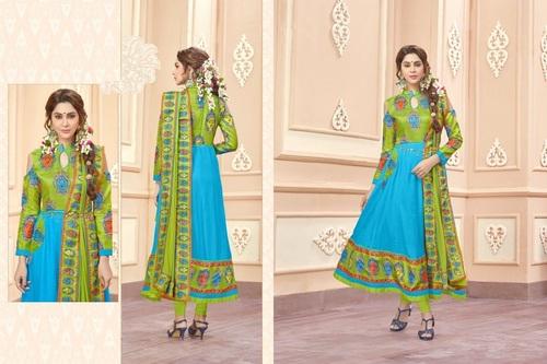 Digital Print Anarkali Suit