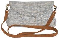 Vintage Chindi Rag Rug Dhurrie Clutch Bag