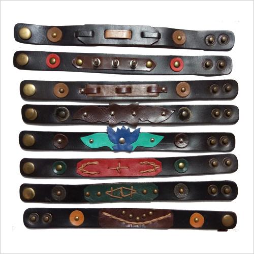 Leather Hand Bracelet