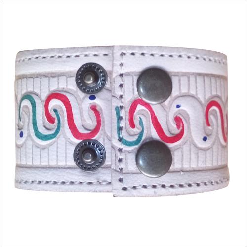 Designer Leather Cuff Bracelet