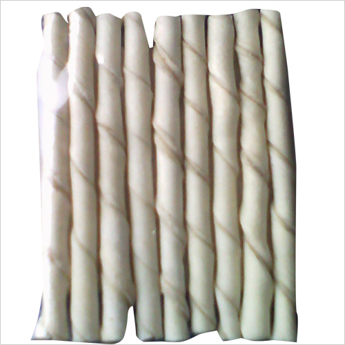Dog White Spiral Chew stick
