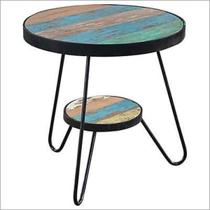 Side Table With Reclaim wood