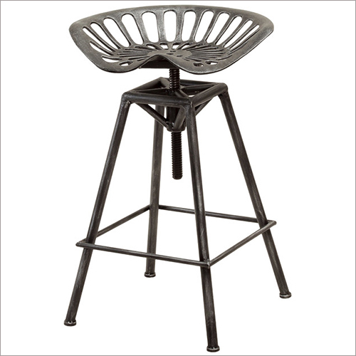Bar Stool with Tractor Seat