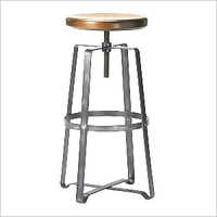 Iron Flat Bar Stool with Adjustible Height