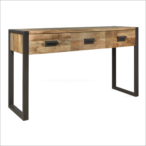 Console with Mango Wood Drawers