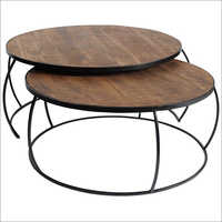 Iron Rod Nesting Table