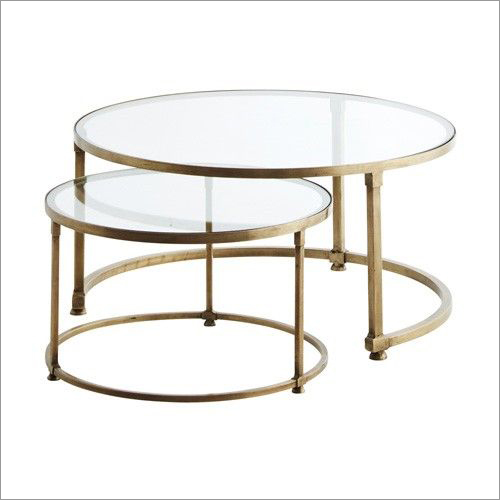 Round Coffee Nesting With Glass Top