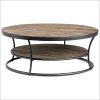 Coffee Table in Round Pipe