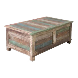Coffee Table With Rustic Finish
