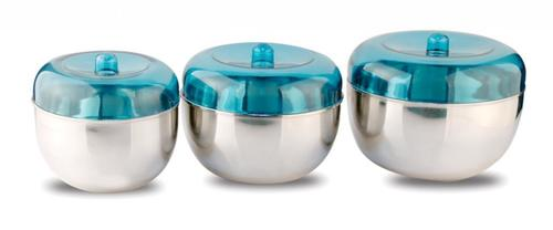ACRYLIC APPLE CANISTER SET