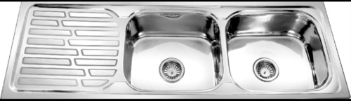 Double Bowl Single Drain Sink