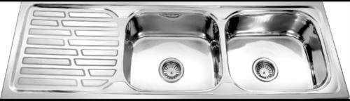 Double Bowl Single Drain Sink