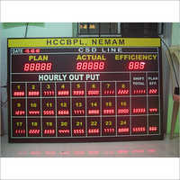 Led Hourly Production Display