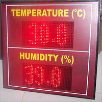 LED Temperature Humidity Display