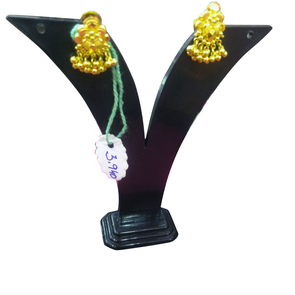 Golden Jhumka Earrings