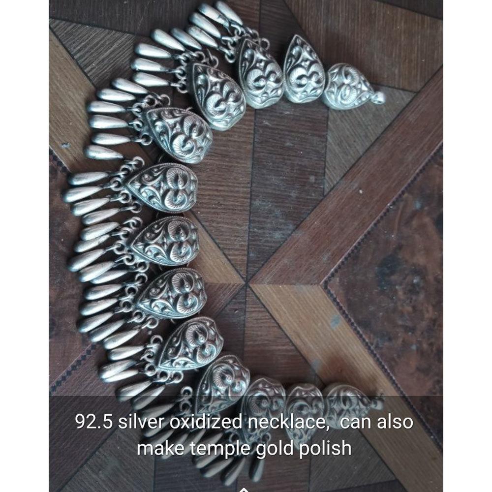 92.5 Silver Oxidized Necklace