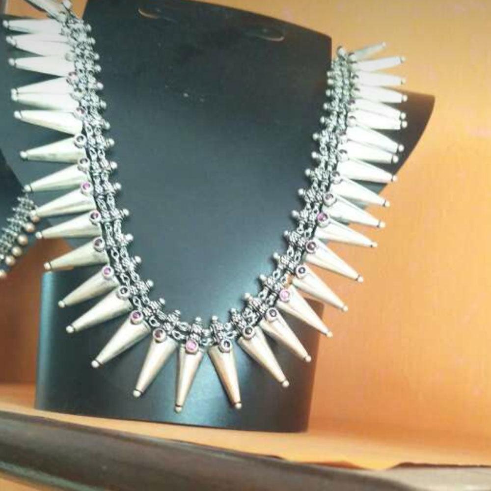 92.5 Pure Silver Antique Necklace