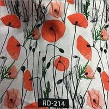 Digital Print Floral Design Fabric