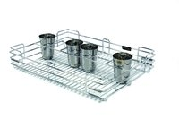 SS Wire Kitchen Glass Partition Basket