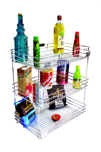 SS Kitchen Organiser Pullout