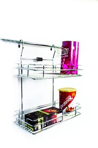 SS Kitchen Hanging Double Shelf