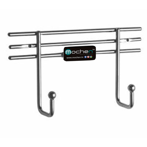 SS Kitchen Two pin Holder
