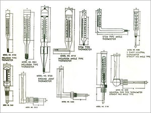 Laboratory & Industrial Glass Thermometer