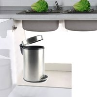 SS Kitchen Plain Pedal Bins