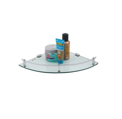SS Kitchen Round Glass Shelf