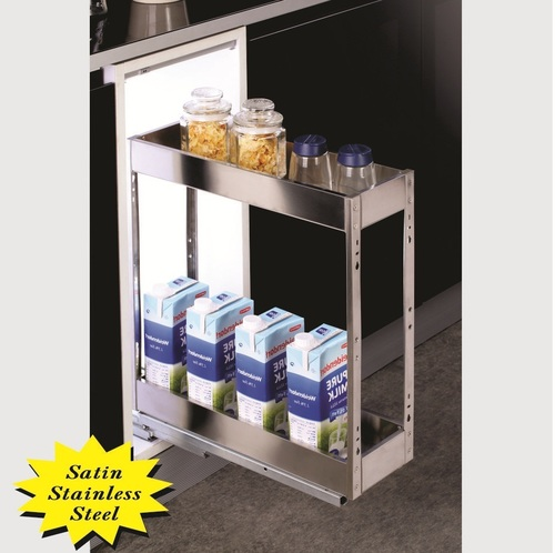 SS Kitchen Satin Bottle Pullout