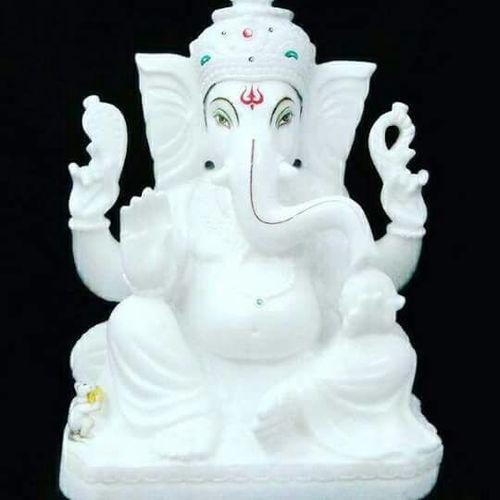 White Makrana Marble Ganesh Statue