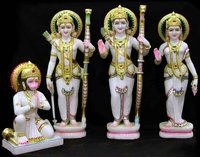 White Marble Ram Darbar Sculpture