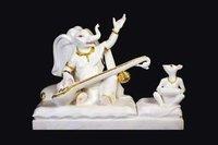 Singing Marble Ganesh Statue