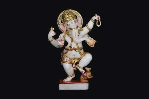 Marble Dancing Ganesh Statue